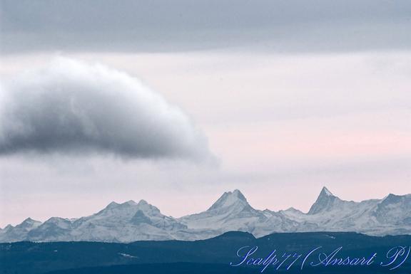 lzq Alpes vues des Vosges